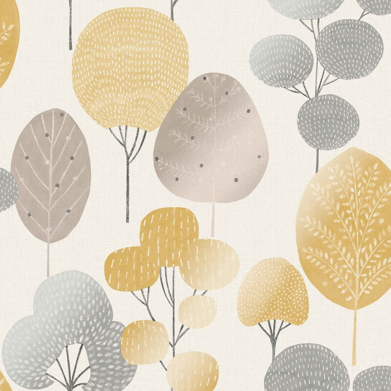 Crown Scandi Forest Mustard M1530 Untouchables Wallpapers Wall Murals And Paints